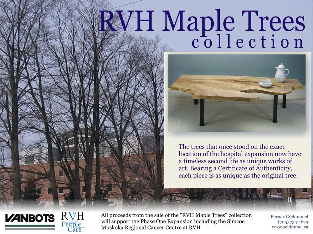 RVH Fundraiser features tables and cheeseboards made from RVH Maples