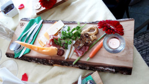 Cheeseboard as individual luncheon platter